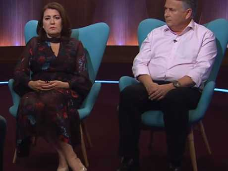 Viewers were deeply touched by Ralph and Kathy Kelly's raw interview with Andrew Denton. Picture: Channel 7