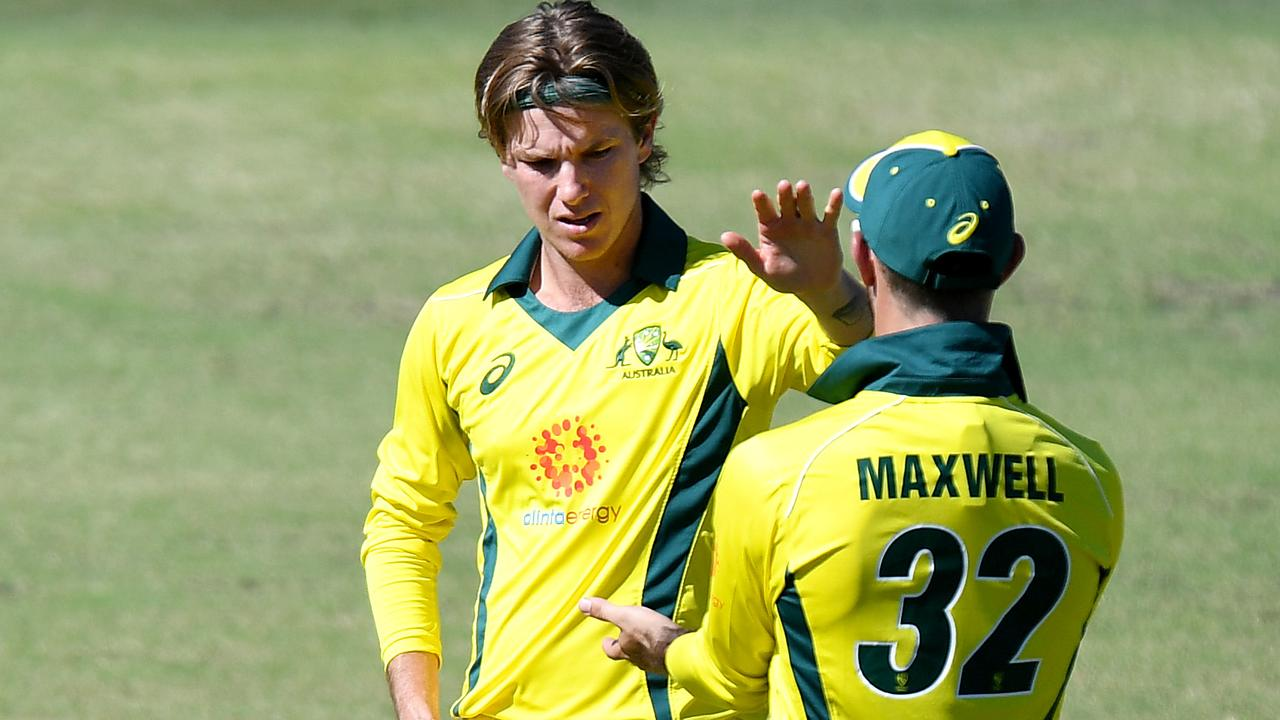 Adam Zampa took the scalp of the West Indies most dangerous batsman.