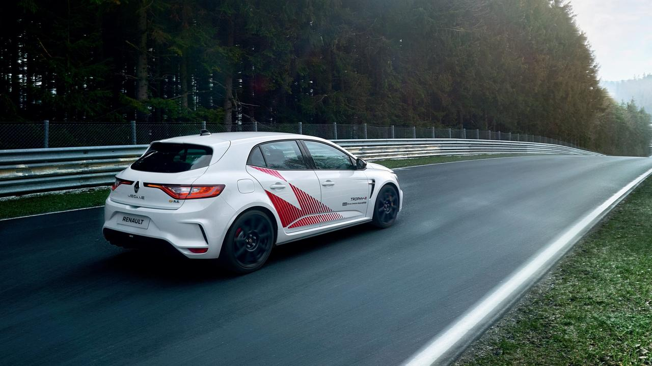 Renault Megane Trophy-R set a record for the fastest hot hatch around the Nurburgring.