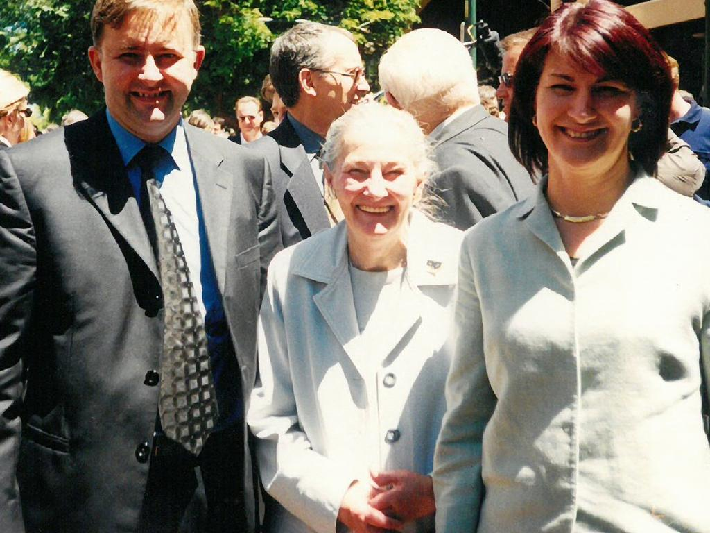 Mr Albanese with his mother Maryanne and ex-wife Carmel Tebbutt, the first woman to hold the position of Deputy Premier of NSW.