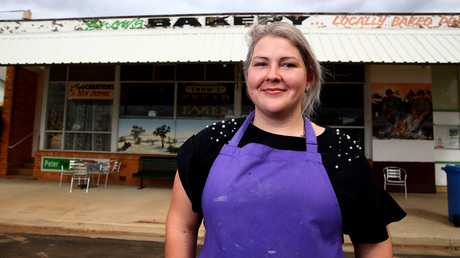 Zoe Lawrie from Snow's Pies in Alpha says she would like to see plans for a mine go ahead in Queensland. Picture: Adam Head