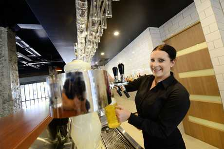 German beer house Heisenberg officially opened last night. Staff member Brooke Fechner. Photo: David Nielsen / The Queensland Times
