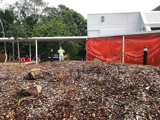 'D' Block at Nambour TAFE was sealed ahead of treatment for mould.