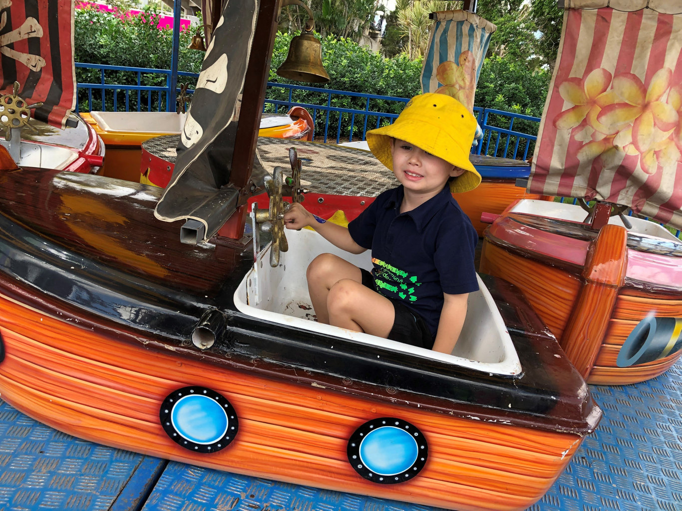 Leo Hadley loved having a ride in the pirate ships.