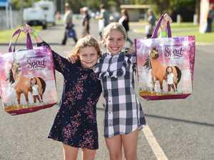 Fraser Coast Show 2019 - sisters Sasha,6, and