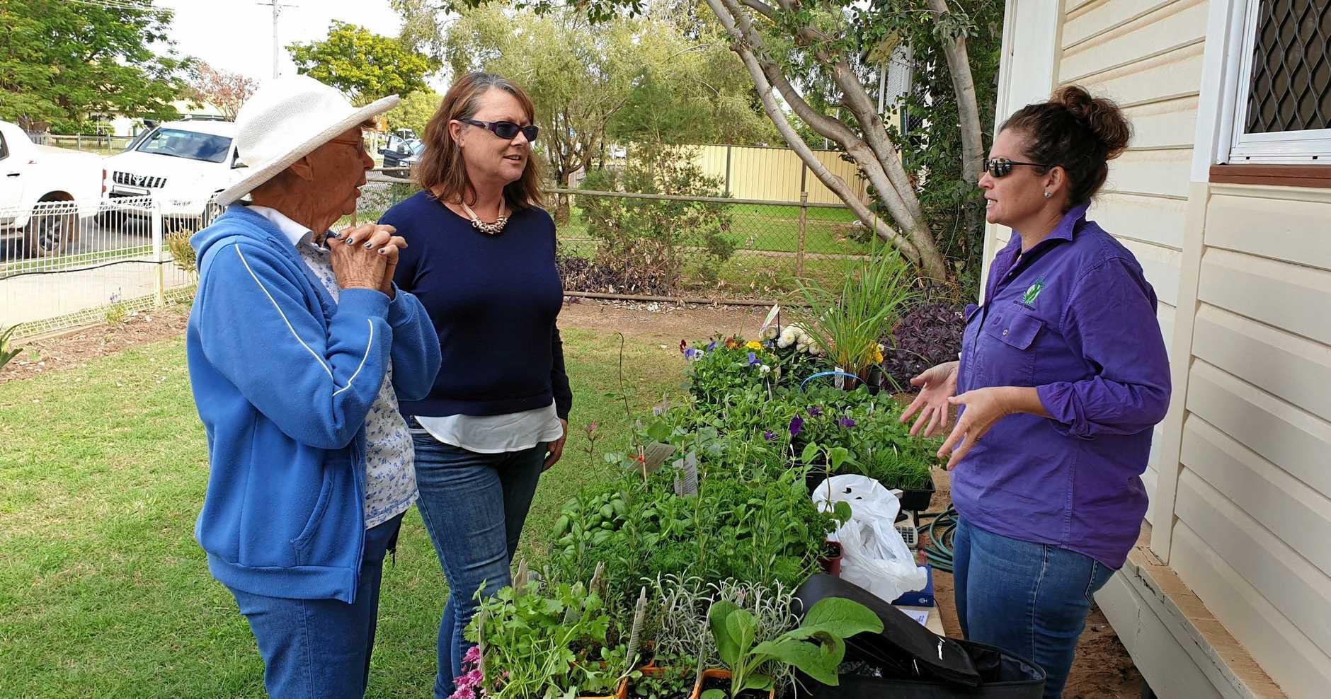 COUNTRY WOMEN: Jan Aldridge sharing some gardening tips during Friendship Day.