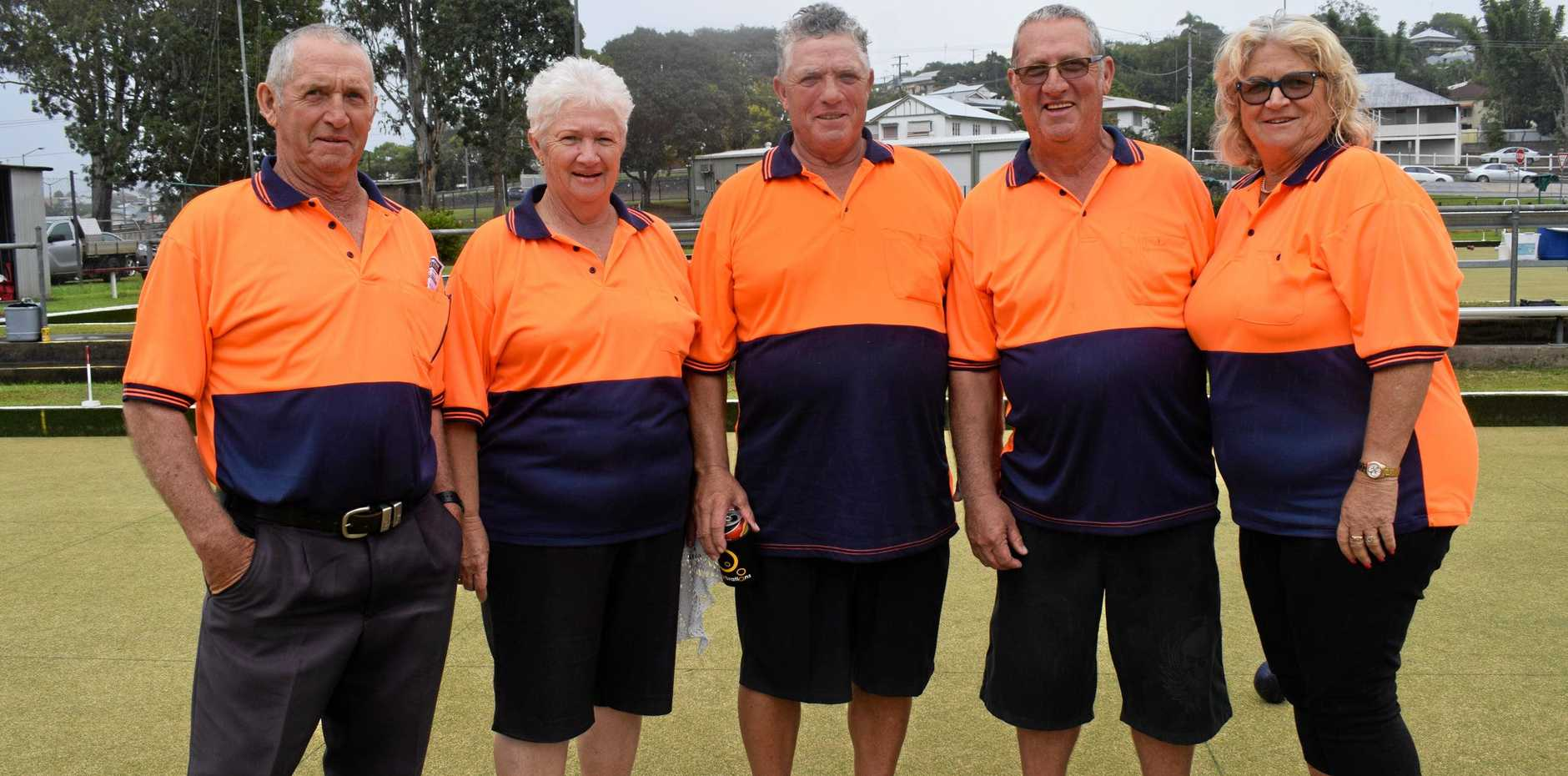 WORTHWHILE: Siblings Jeff Worth, Dell Stretton, Peter Worth, Charlie Worth and Janelle Walker at the Albert Park Bowls Club tournament on Sunday.