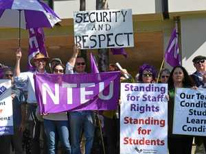 'They have a responsibility': Staff protest for job security