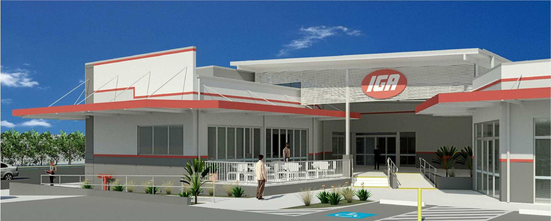 NEW LOOK: Plans for the new entry to the IGA shopping centre include stair and ramp access.