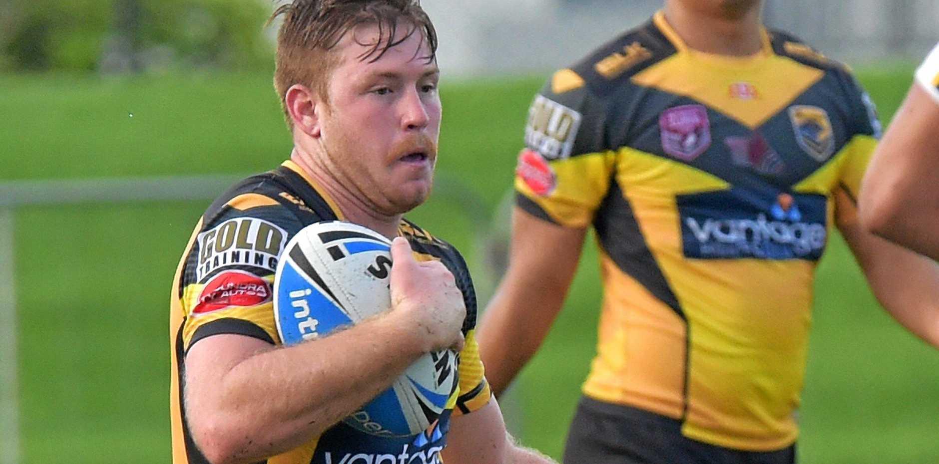 ON THE BURST: Sam Wright makes a break for Sunshine Coast Falcons.