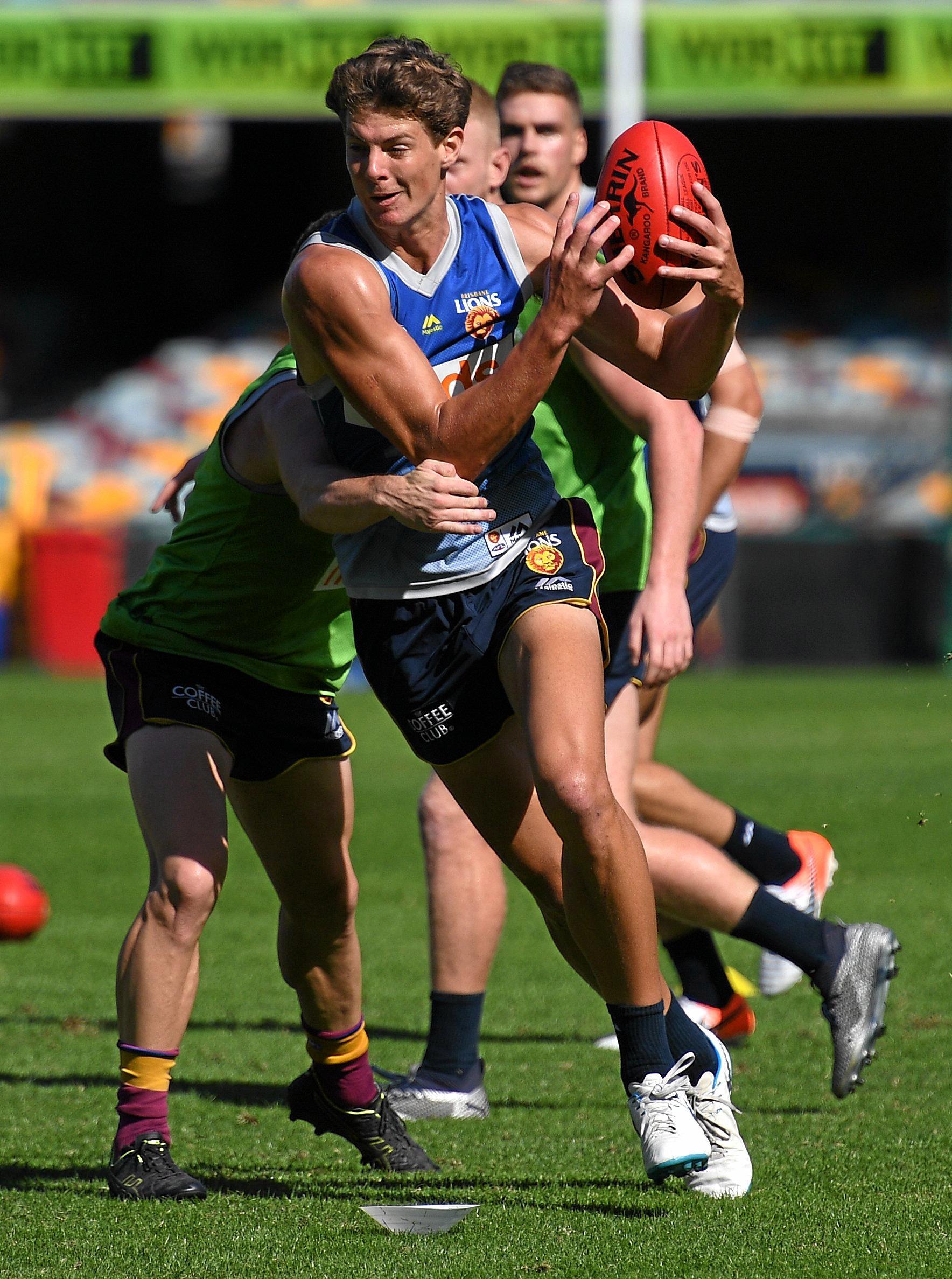 TRAINING HARD: Brisbane Lions'  Tom Fullarton during training in Brisbane.