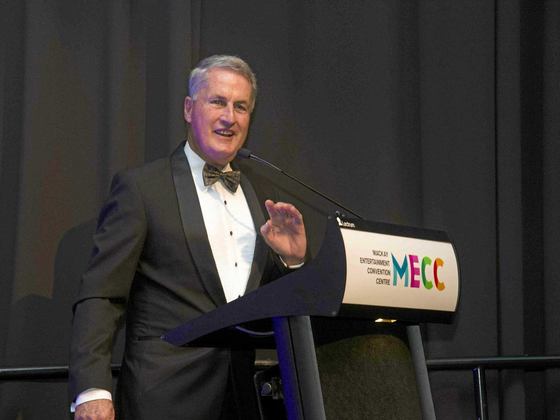 Mayor Greg Williamson at last year's Charity Ball at the MECC.