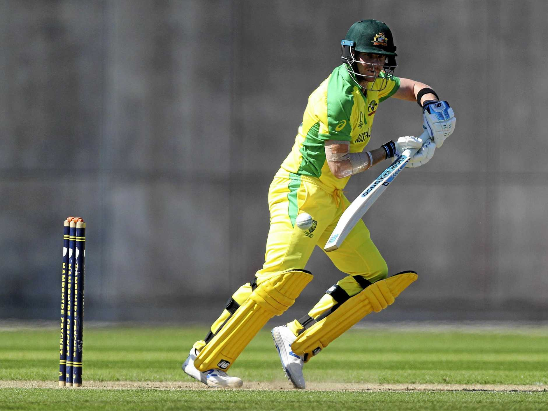 Steve Smith in control against the West Indies at the Nursery Ground, Southampton. Picture: Andrew Matthews/AP