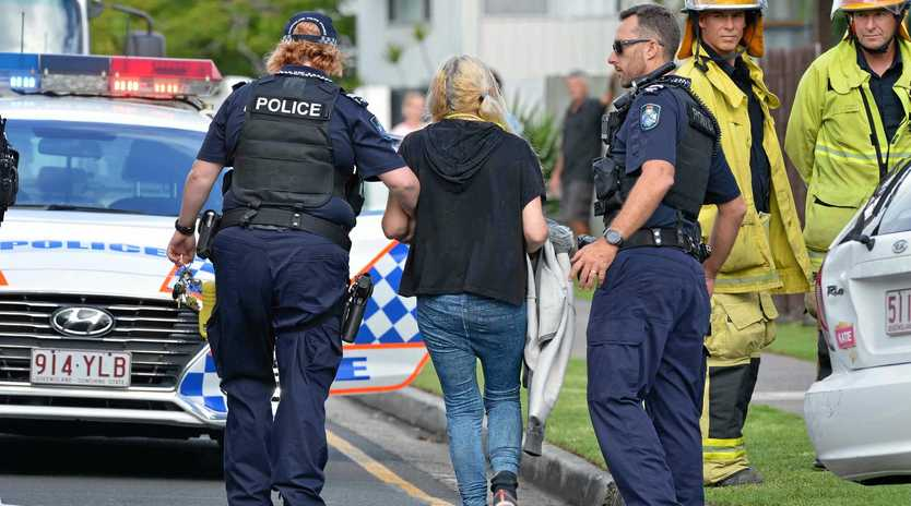 CAR CRASH: A woman in her 20s sufferd oil burns from a deep fryer after a car crashed into the Swan Bites Fish and Chip Shop at Maroochydore this morning.