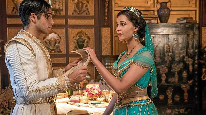 FAMILY FAVOURITE: Naomi Scott and Mena Massoud in Aladdin (2019).