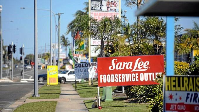 Further south on the Sunshine Coast, sign clutter is plain to see.