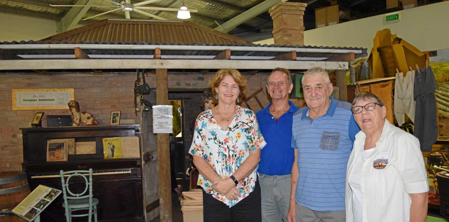HELPING OUT: Proserpine Historical Museum volunteers Gloria Cowan, Pete Harling, Alan Garlick and Ailsa Reinke.