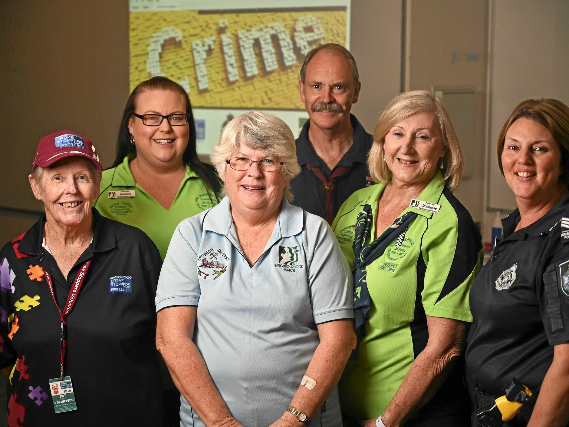 TAKING UP THE FIGHT: Pat Carpenter, Amanda Draheim, Pam Lobwein, Alex Mair, Duchense broad and Nadine Websterahead of the Crime Prevention Awards.