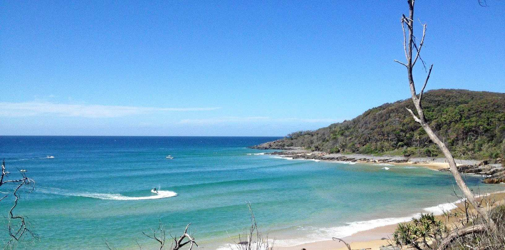 A rescue helicopter has been tasked to Tea Tree Bay in Noosa after a near-drowning incident.