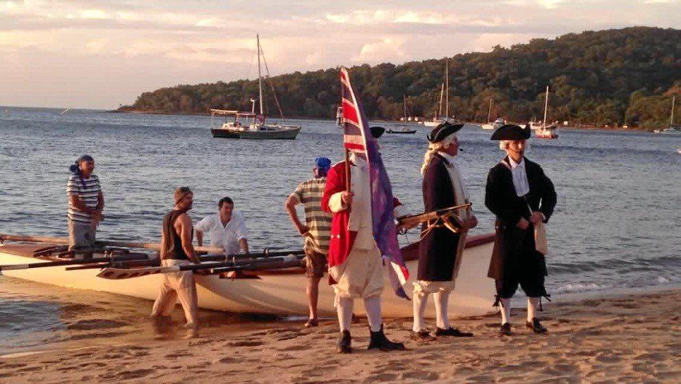 FLASHBACK: Scenes from the 2018 re-enactment of Captain Cook's landing, held as part of Gladstone Region 1770 Festival.
