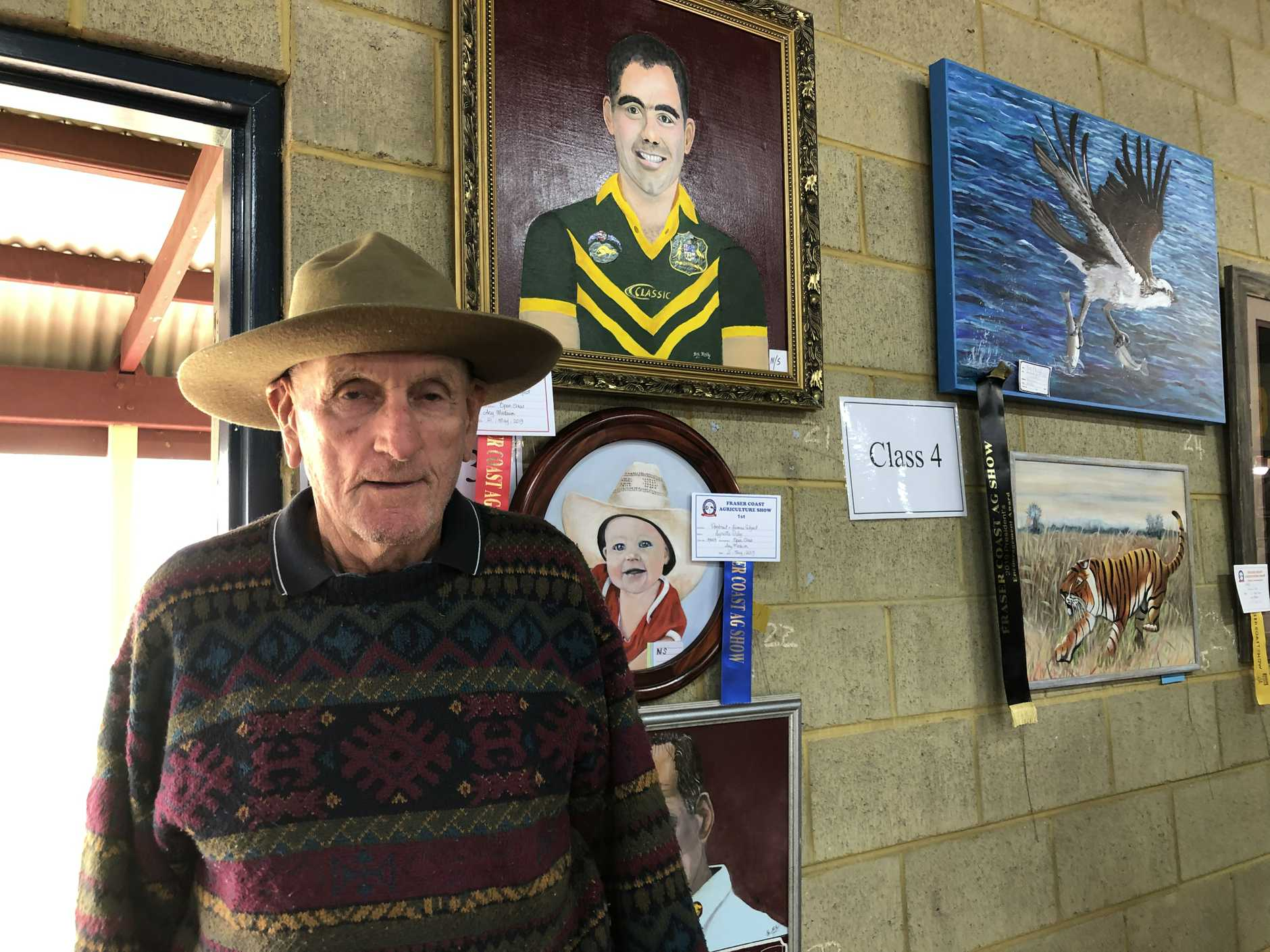 Vincent Kennedy checked out the artworks on display at the Fraser Coast Show.