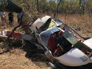 Chopper fell 80m before crashing into ground