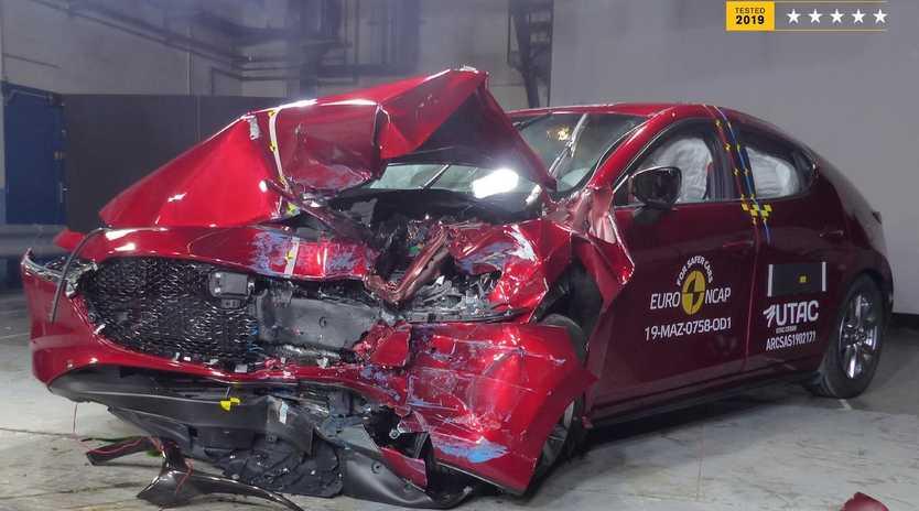 The 2019 Mazda3 scored an impressive crash test result.
