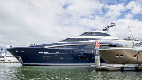 The Legion, a Horizon RP110 yacht is 122ft long. Picture: Jerad Williams