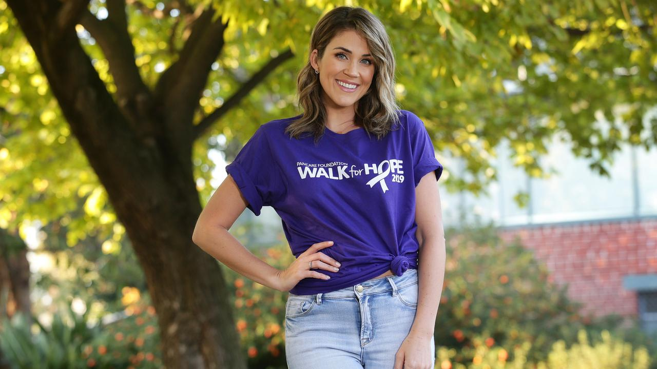 Georgia is an official ambassador for Pancare Foundation and will take part in the Walk for Hope on May 26 in Sydney. Picture: Andrew Tauber