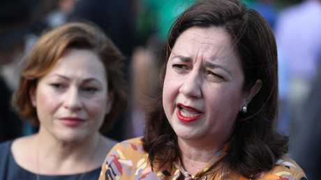 Premier Anastasia Palaszczuk and Jackie Trad have been under fire over the handling of Adani. Pic Peter Wallis