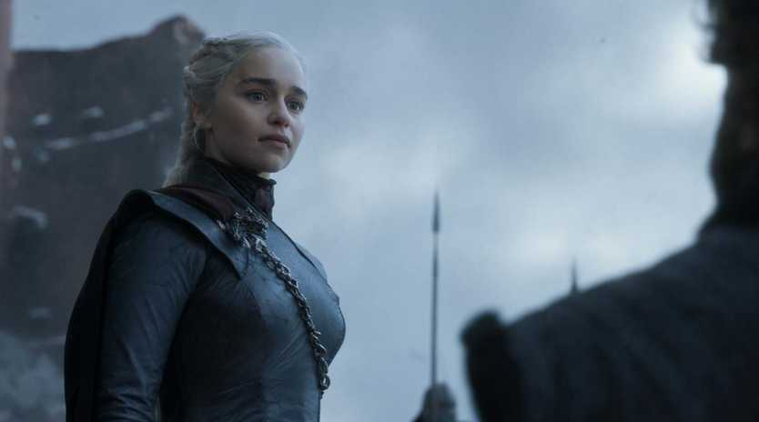 Emilia Clarke had a few worries before shooting this scene in the final episode of Game of Thrones. Picture: AP