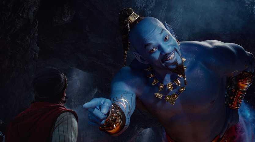Will Smith as Genie. Picture: Disney via AP