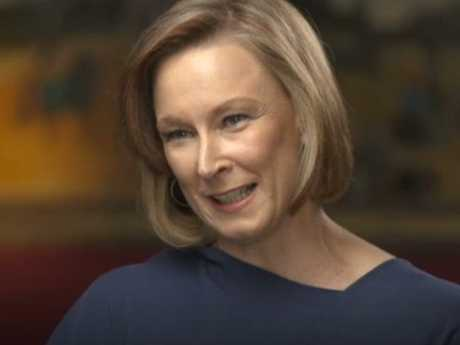 Leigh Sales tried to hold back tears interviewing Blanche d'Alpuget on 7.30. Picture: ABC
