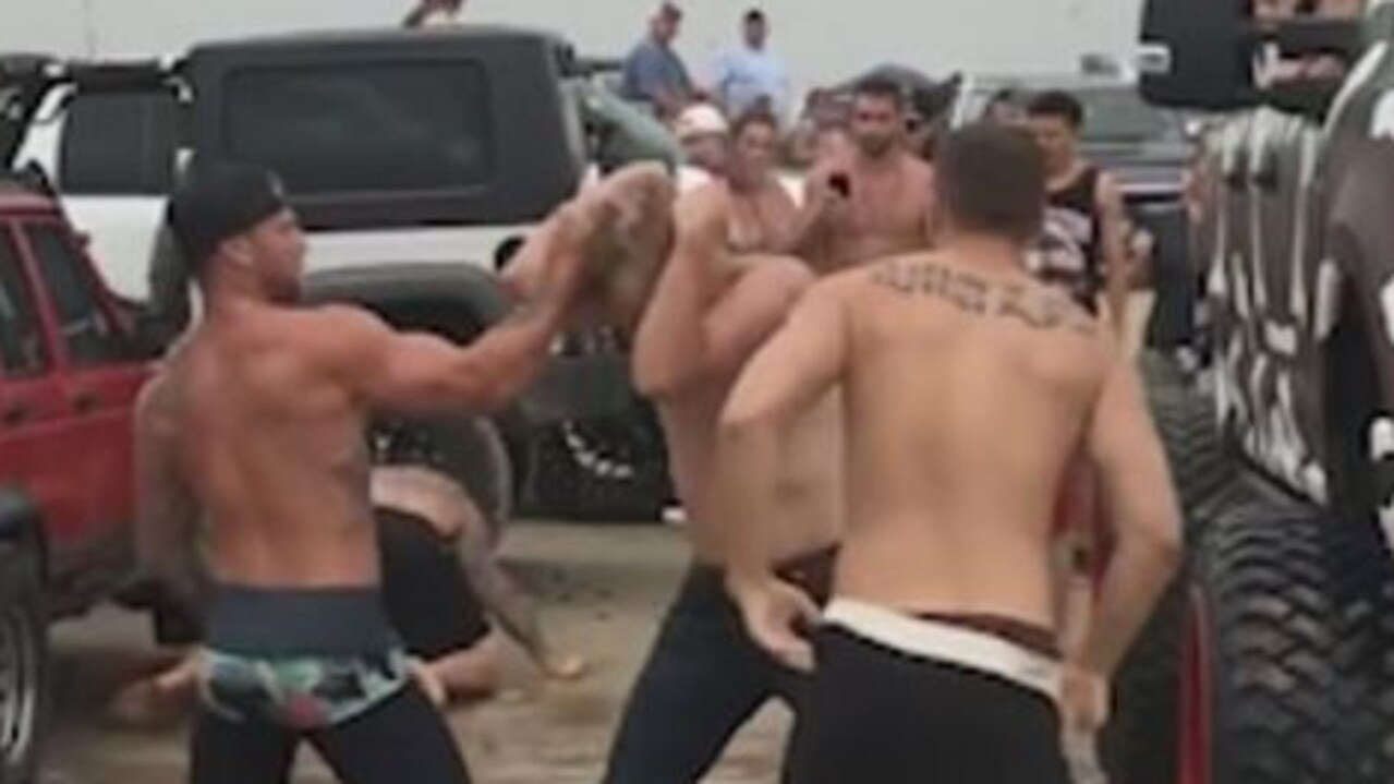 Go Topless Galveston event in Texas cancelled after brawl. Picture: Supplied