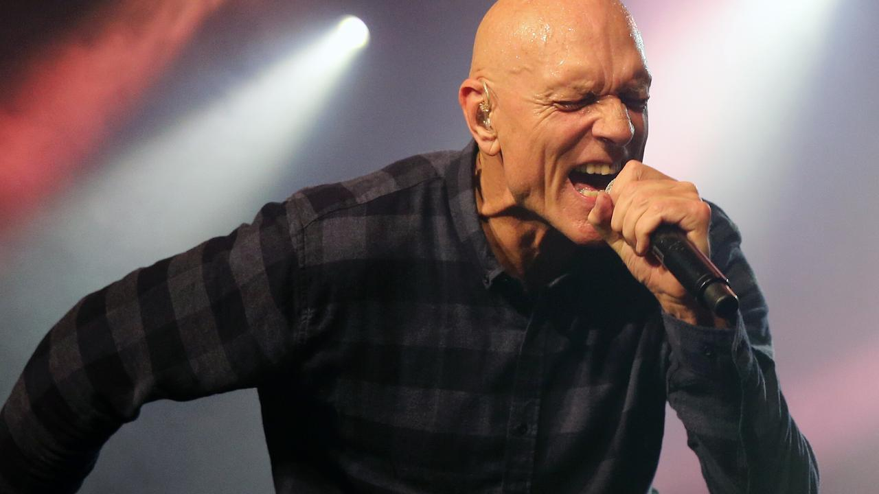 Midnight Oil front man Peter Garrett during a concert at Anita's Theatre in Thirroul in a one off NSW show. Picture: Richard Dobson