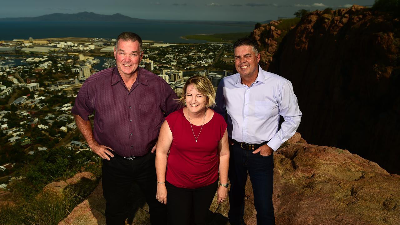 Labor trio Scott Stewart, Coralee O'Rourke and Aaron Harper. Picture: Evan Morgan
