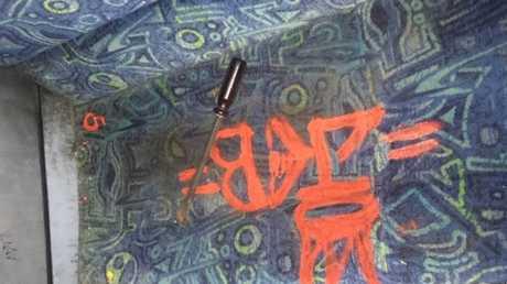 Graffiti and damage on Cairns Sunbus vehicles.