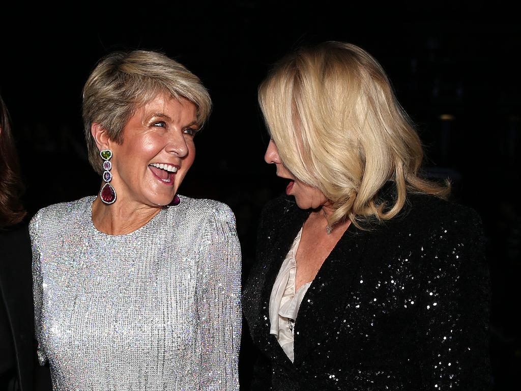 Julie Bishop and Kerri-Anne Kennerley at the Mercedes Benz fashion week. Picture: Matrix Media Group