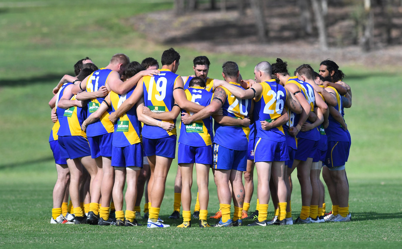 Ipswich Eagles V Moorooka QFA Division 3 aussie rules match played at Mark Marsh Oval on Saturday.