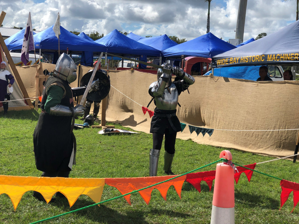 Tiaro's Riverbend Medieval Society were on hand to put on a performance during the show.