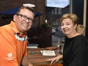 Andrew Allpass and Lisa Lee at a farewell function