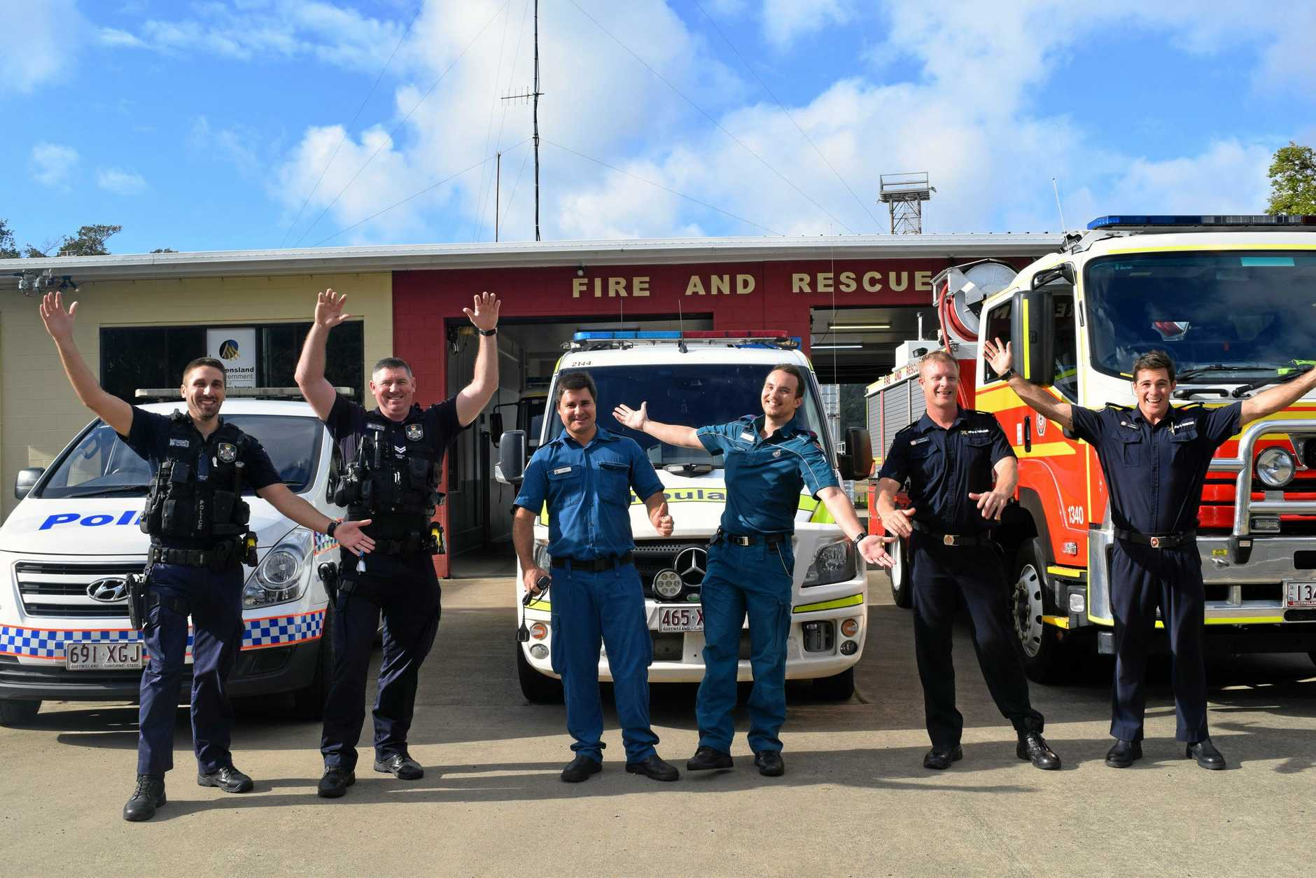 Whitsunday emergency services personnel Isaac Mahony, Nathan Bentley, Chris Cranmer, Alec Simpson, Nick Bellinger and Blake Broadwood are looking forward to this year's Whitsunday 000 Ball.