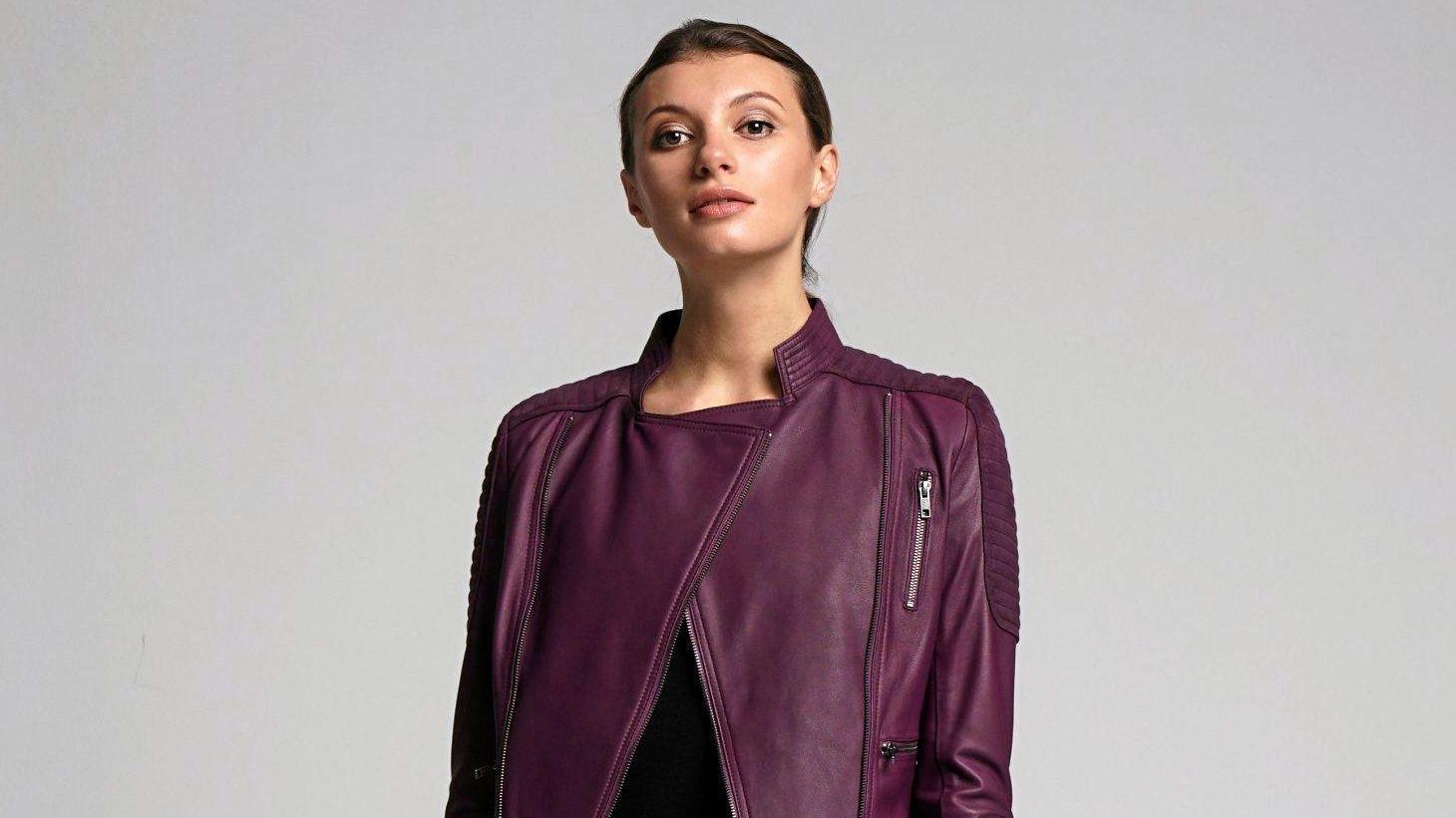 2NDSKIN Gracie Leather Jacket, $629, 2ndskinonline.com