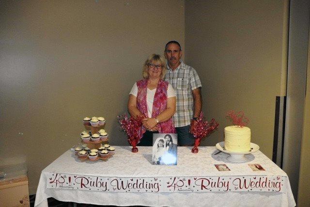 MILESTONE: Neil and Karen Hansen at their 40th wedding anniversary.