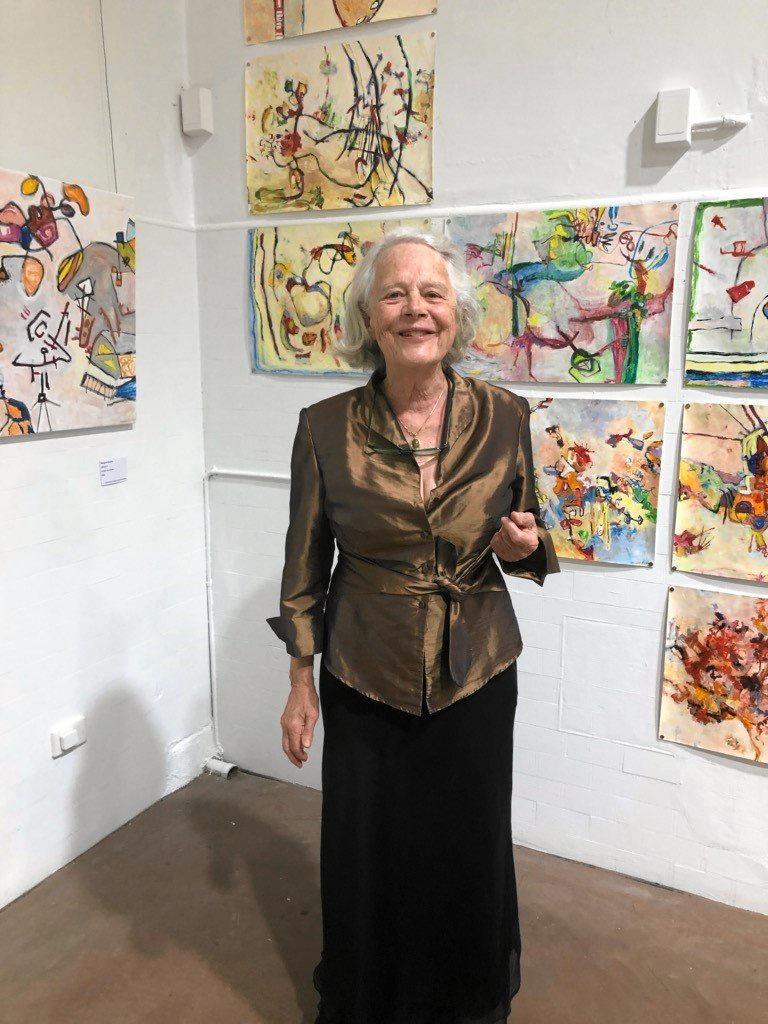 Artist Margaret Builder and her works.