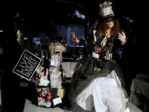 'Crazy' designs and inspiring art on festival catwalk
