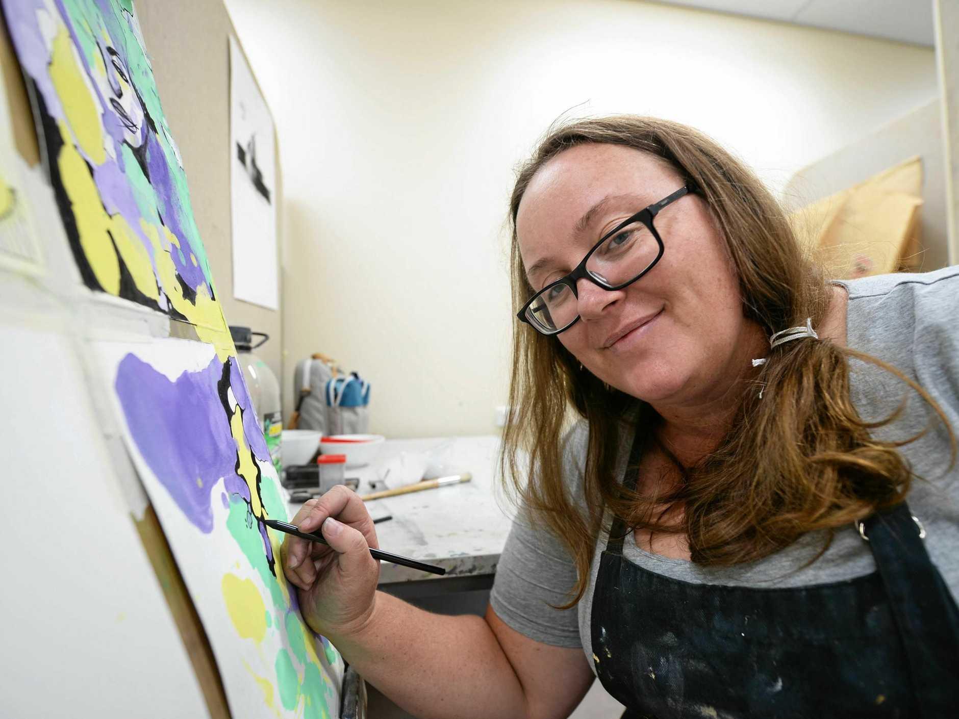 RAW TALANT: CQUniversity Bachelor of Creative Arts student Elisha Habermann.