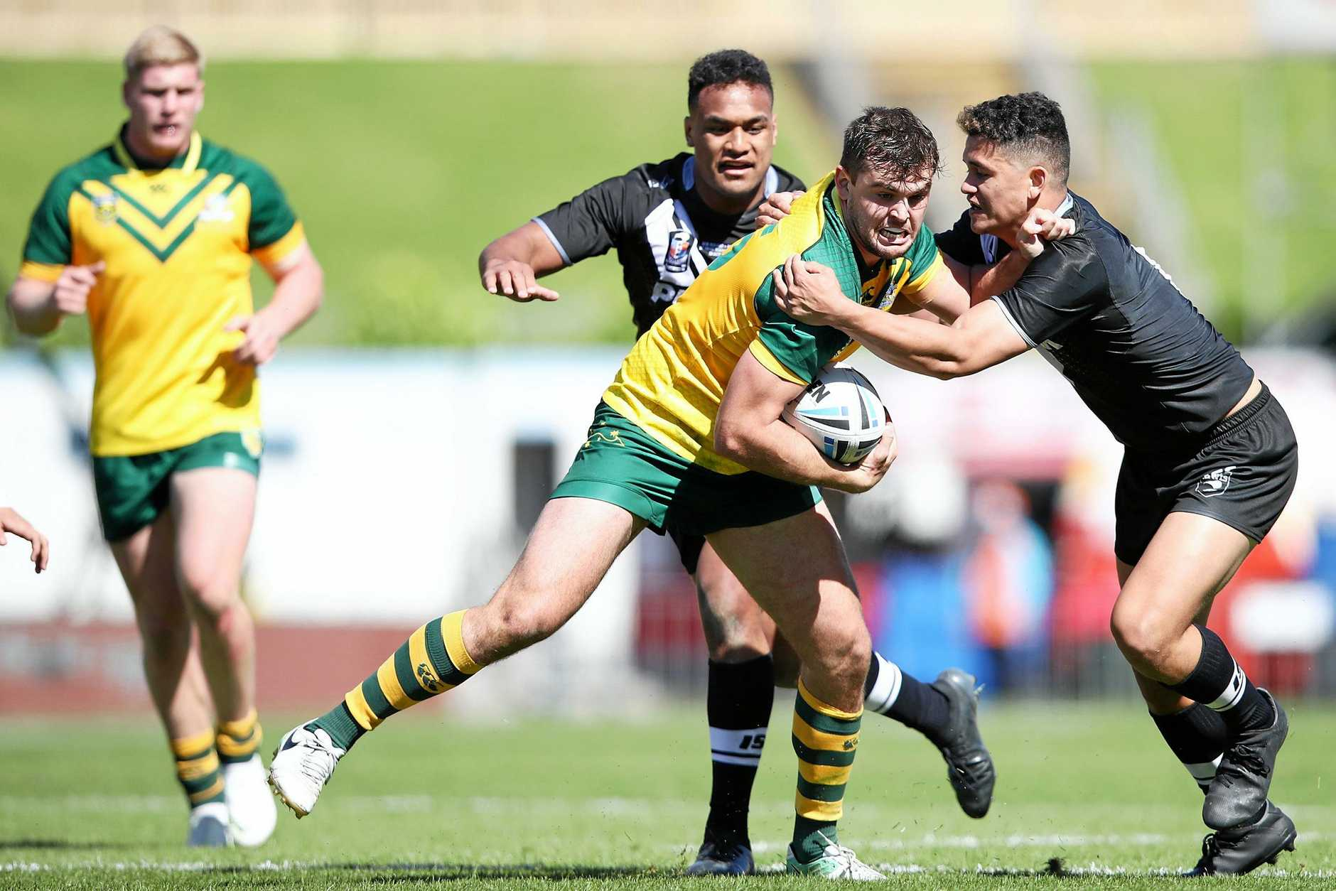 REP PLAYER: Sunshine Coast's Louis Geraghty played for the Junior Kangaroos against the Junior Kiwis in Auckland in October.