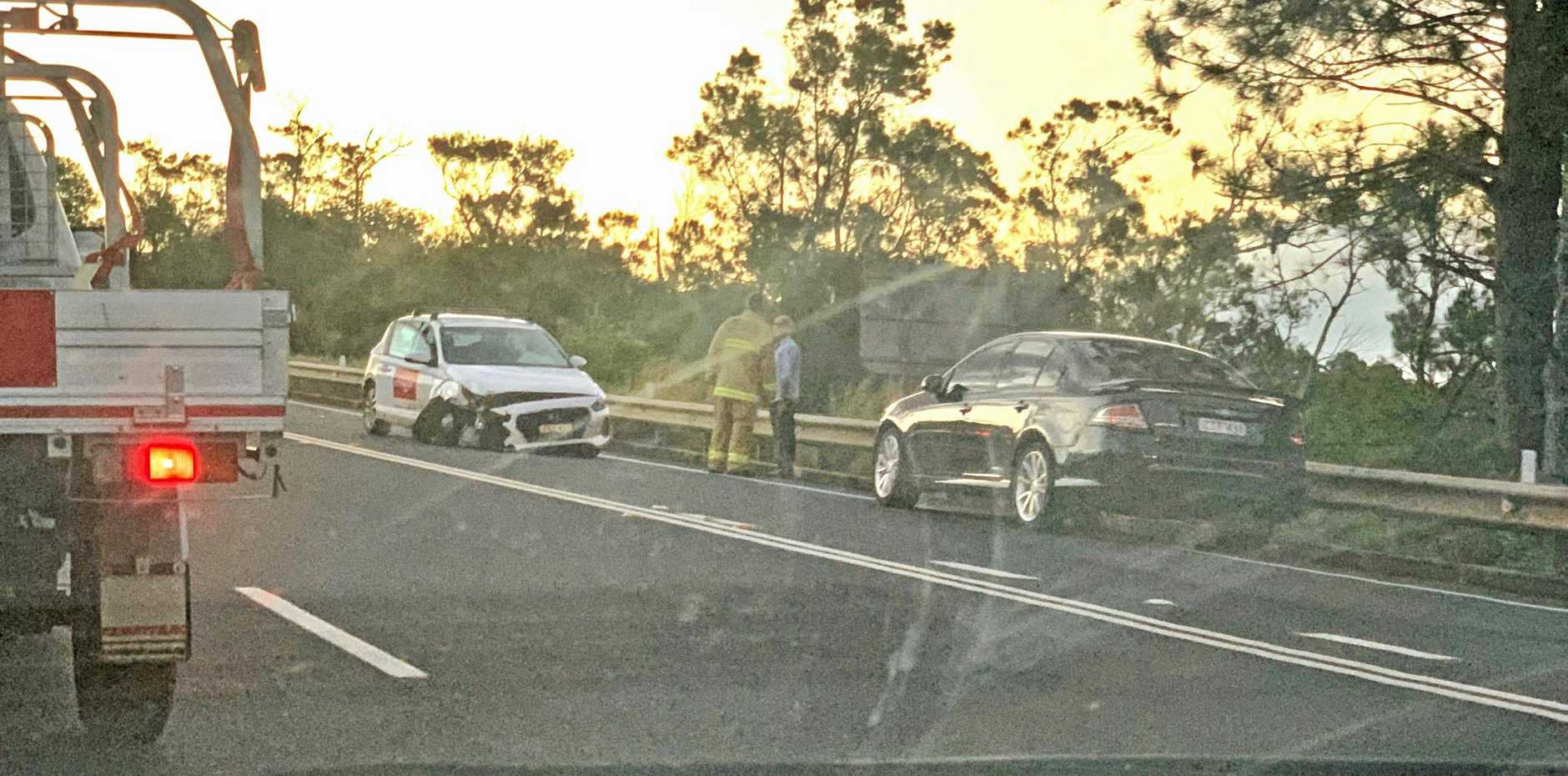 LUCKY ESCAPE: A senior police officer said the drivers of a four car crash on the Bruxner Hwy near Alstonville on May 23, 2019, were every lucky to not suffer serious injuries.