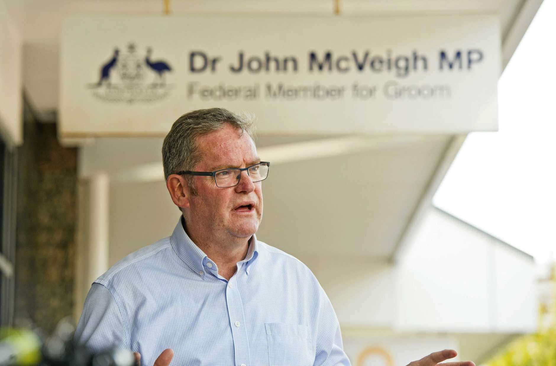 Groom MP Dr John McVeigh.